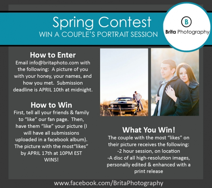 Spring Contest|Couple's Portrait Session Giveaway by Atlanta
