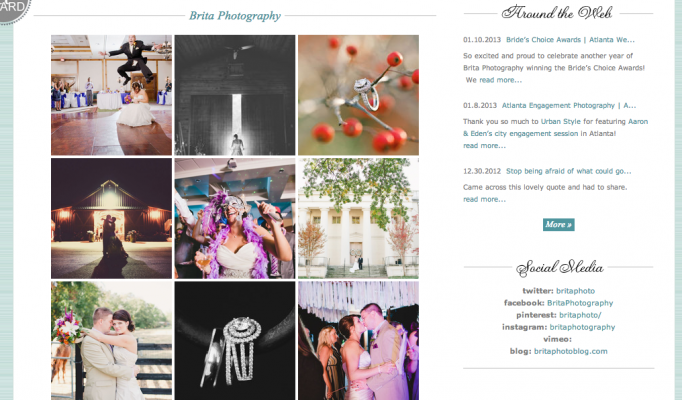 Style Me Pretty Little Black Book Vendor _ Atlanta Wedding Photography Team _ Brita Photography 1