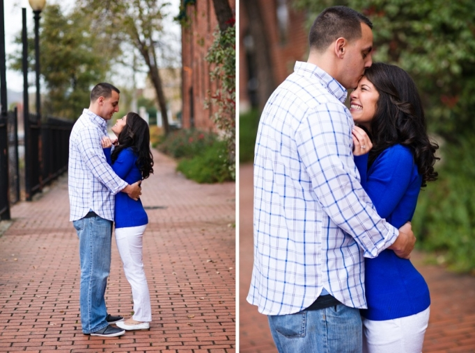 Candace and Pat - Marietta Square Engagement Session - Marieta Square Engagement - husband and wife team - romatnic - fall engagement 10