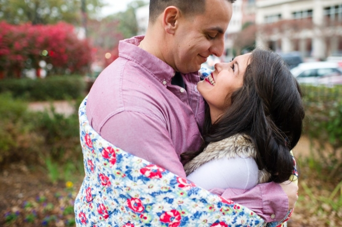 Candace and Pat - Marietta Square Engagement Session - Marieta Square Engagement - husband and wife team - romatnic - fall engagement 19