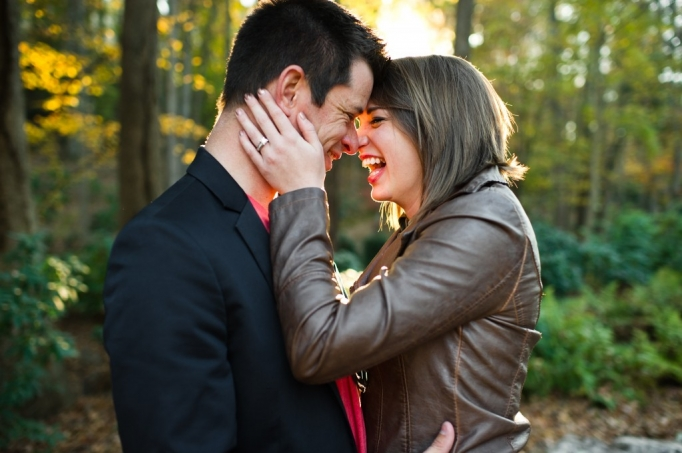Kate and Brad - Atlanta Engagement Photography- Session by Brita Photography - romantic river engagement 07