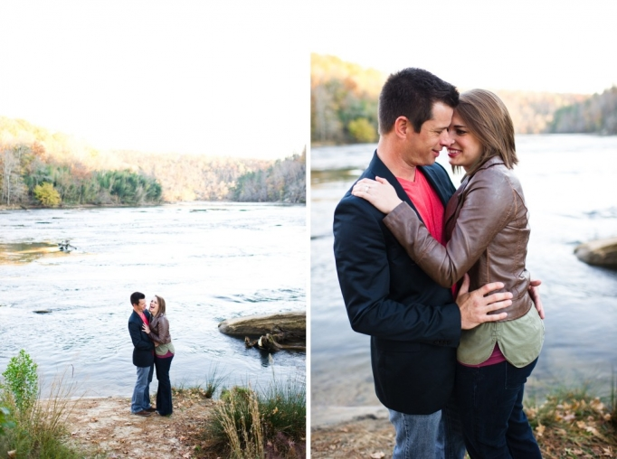 Kate and Brad - Atlanta Engagement Photography- Session by Brita Photography - romantic river engagement 14