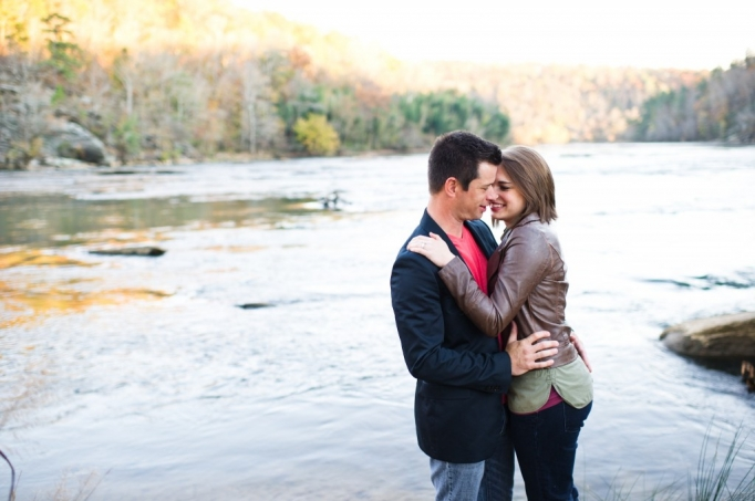Kate and Brad - Atlanta Engagement Photography- Session by Brita Photography - romantic river engagement 15