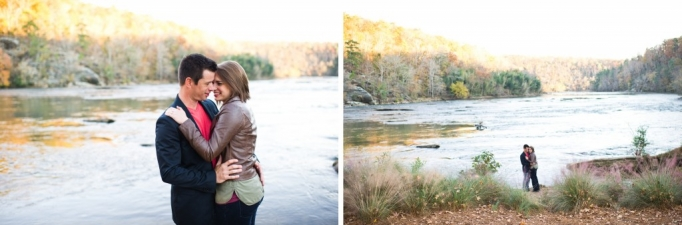 Kate and Brad - Atlanta Engagement Photography- Session by Brita Photography - romantic river engagement 16