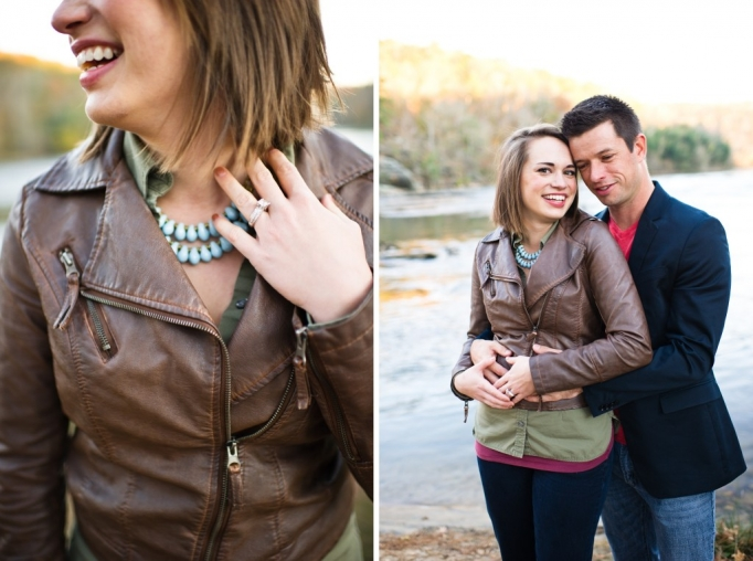 Kate and Brad - Atlanta Engagement Photography- Session by Brita Photography - romantic river engagement 27