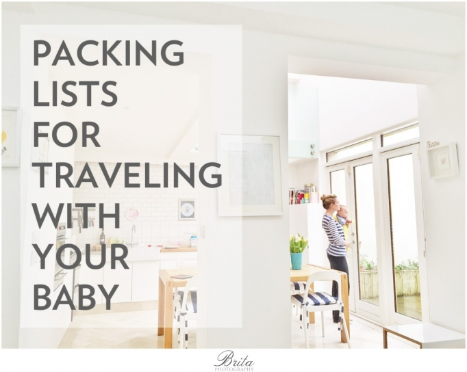 Packing list for travel with baby