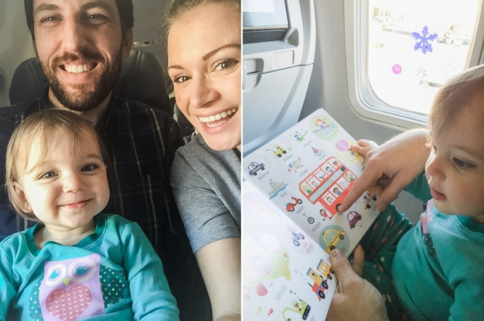 surviving a flight with your toddler