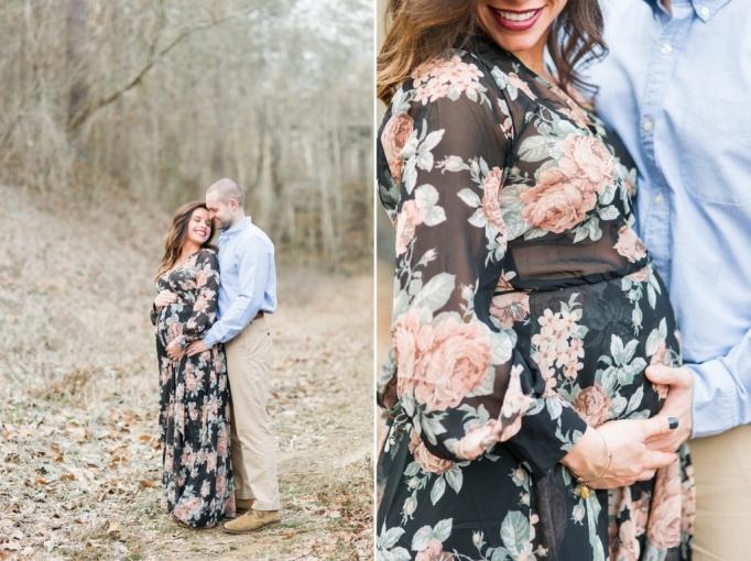 Jennifer & seth, romantic, maternity, winter, fine art, winter maternity, elegant, floral dress, long, beautiful, brita photography03